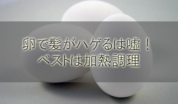 生卵で髪がハゲるは嘘!飲むはNG、たんぱく質吸収ベストは加熱