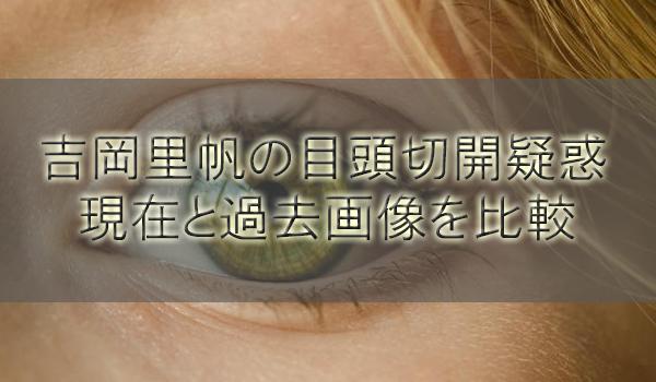 吉岡里帆の目頭切開と整形疑惑を調査!現在と過去画像を比較